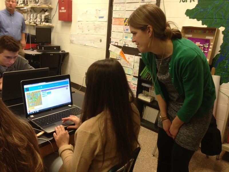 Biology teacher Heather Baron - CATHY RESMER