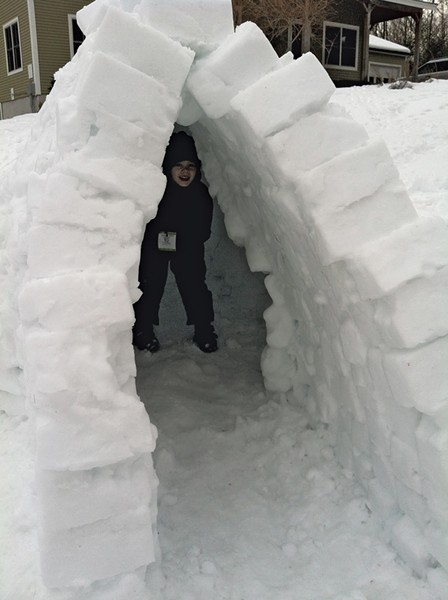 The Mezitts' igloo - CARA MEZITT