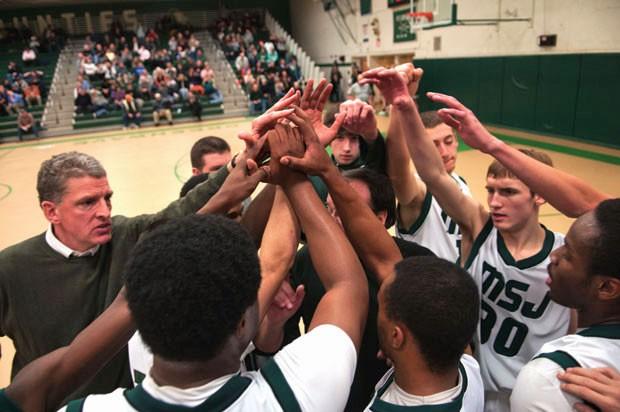 The Mount Saint Joseph's basketball team plays a home game against Brattleboro High School.