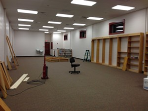 The new library space in the O'Brien Community Center