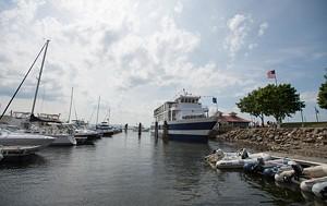 The Spirit of Ethan Allen III in the Burlington Harbor