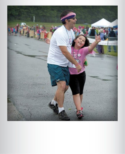 Andy Bilodeau and daughter Gemma finishing the Girls on the Run 5K in 2013. Submitted by Betzi Bilodeau, Essex