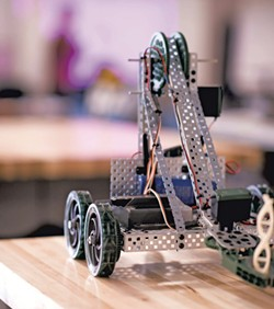 A robot in the STEM lab - CALEB KENNA