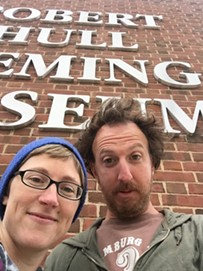 Not our most flattering angle, but you can't take photos inside the museum... - RYAN MILLER