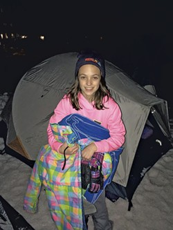 Ella Byers at the Spectrum Sleep Out