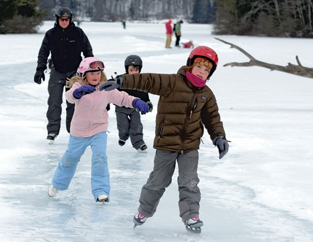 Skating on a local pond - JEB WALLACE-BRODEUR