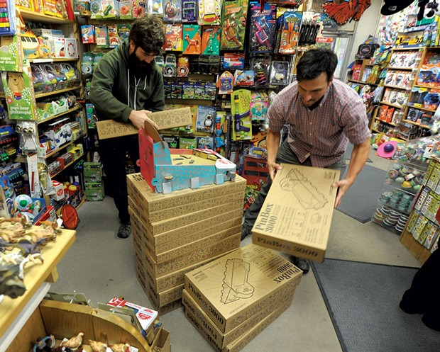 Pete Talbot and Ben T. Matchstick at  Woodbury Mountain Toys - JEB WALLACE BRODEUR