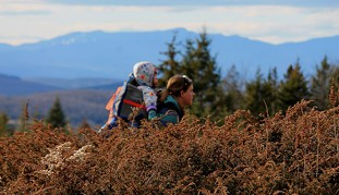 Sarah and Elise hiking at Barr Hill Natural Area - TRISTAN VON DUNTZ