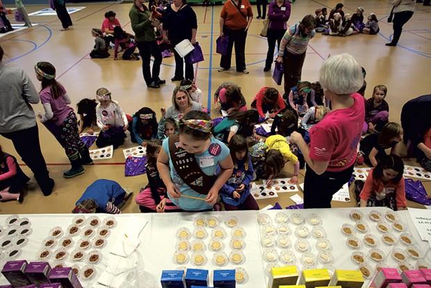 Cookie samples at the Burlington cookie rally - MATTHEW THORSEN