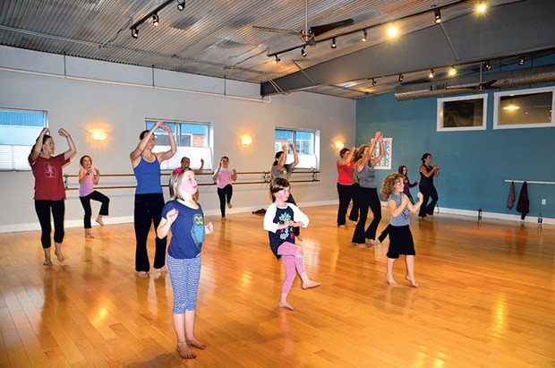Mothers and daughters practice Nia at South End Studio - COURTESY OF JESSICA LARA TICKTIN