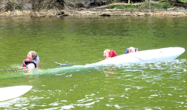 Campers attempt to pass the tippy test at Rock Point Summer Camp - COURTESY OF ROCK POINT SUMMER CAMP