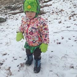 Elise navigates a downhill section of trail - SARAH GALBRAITH