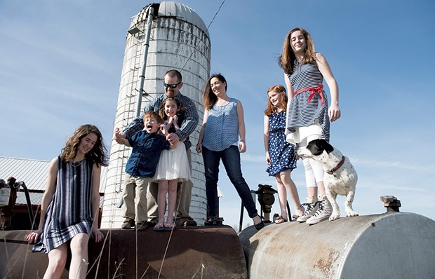 Mom: Nancy Sunderland, 38, founder and creative director, Poe Wovens - Dad: Bob Sunderland, 39, dairy farmer, Sunderland Farm Inc. (formerly known as Rolling Acres Farm) - Kids: Daughters Brittany, 16; Abigail, 12; Vanessa, 11; and Laila, 7; and son, Beau, 4