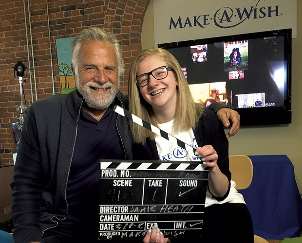 Jonathan Goldsmith with Wish Kid Jamie Heath