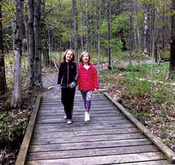 Hiking in Stowe - COURTESY OF STOWE LAND TRUST