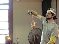 Glass blowing at Simon Pearce - COURTESY OF SIMON PEARCE