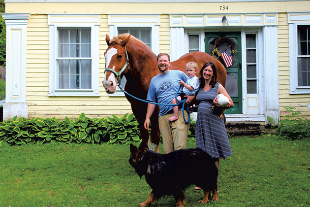 Dad: Tom Galinat, 33, Peacham town clerk and treasurer, dairy farm assistant, horse owner - Mom: Hanna Wheeler Galinat, 35, Peacham Elementary School after-school program teacher - Kids: Son, Josiah, almost 3, and a baby on the way - TRISTAN VON DUNTZ