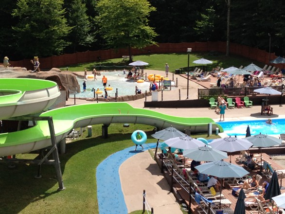 The view of the Mountainside Water Playground, from the top of a slide - JANET FRANZ
