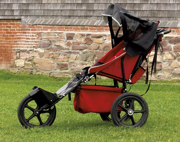 An adaptive stroller purchased for Shelburne Farms