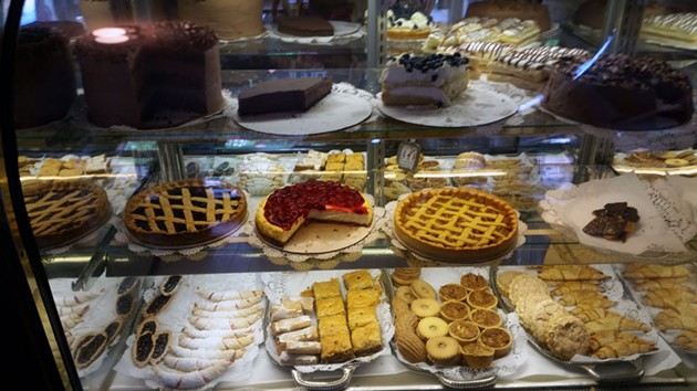 Dessert case at Rainbow Sweets - SARAH YAHM