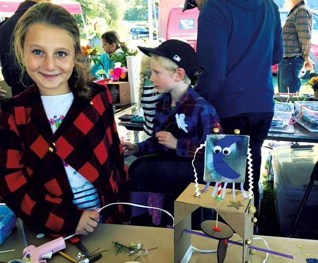 Mira at the Champlain Mini Maker Faire - ALISON NOVAK