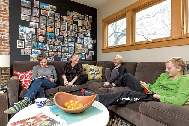 Moms: Judy Klima (right), 56, arts integration coach at the Integrated Arts Academy at H.O. Wheeler; Anna Thelemarck (left), 48, owner, Struktur architectural design firm - Sons: Anders, 11; Kuba, 9 - OLIVER PARINI
