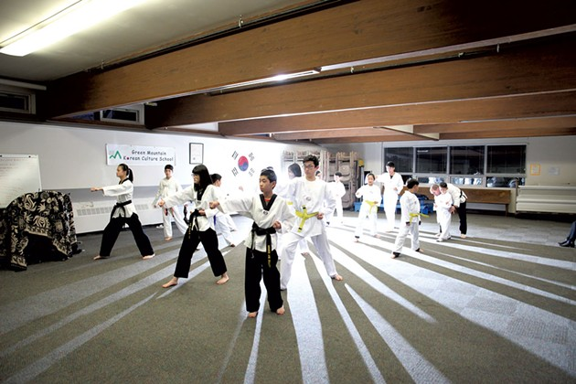 Tae kwon do class - MATTHEW THORSEN