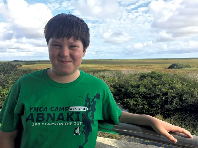 Graham sporting a Camp Abnaki T-shirt