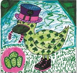 """""""Lucky Ducky"""" by Iana Mecca, age 12, South Burlington"""
