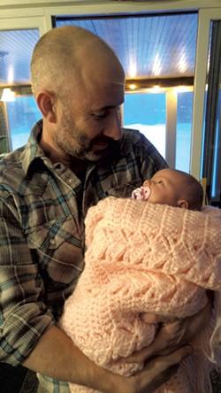 Sean Prentiss with daughter Winnie