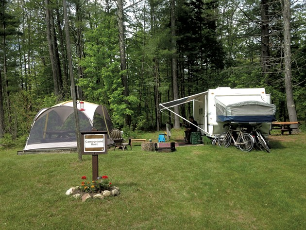 The family's campsite - COURTESY OF DEBI WATERS