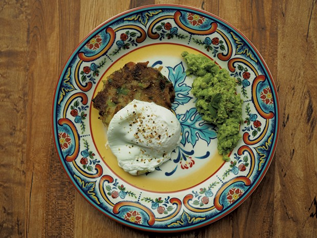 Bubble and squeak & mushy peas - ANDY BRUMBAUGH