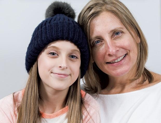 Rebecca Rey, 46, with daughter Mykenzie, 13 - SAM SIMON