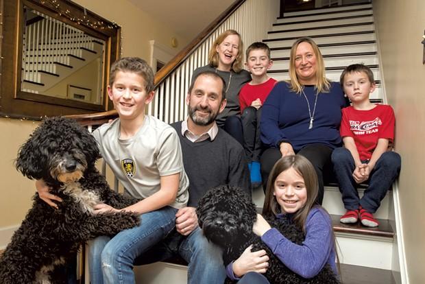 Dad: Paul Crainich, 47, hospitalist at Central Vermont Medical Center -  Mom: Janet Kirwan, 48, intervention cardiologist at University of Vermont Medical Center -  Nanny: Susan Brean, 44 -  Sons: Hugo,12,  Oscar, 9, Oliver, 8 -  Daughter: Aoife, 11 - JAMES BUCK
