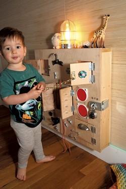Mo's plywood sensory box - MATTHEW THORSEN