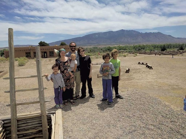 The Ahmeds at Coronado Historic Site in New Mexico - COURTESY OF GRACE AHMED