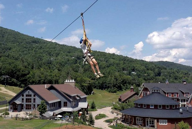 The zip line at Sugarbush Resort - JANET ESSMAN FRANZ