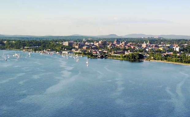 The Burlington skyline from Lake Champlain - JAMES BUCK