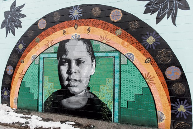 Portrait Murals of Burlington by Mary Lacy and Sloan Collins - SAM SIMON