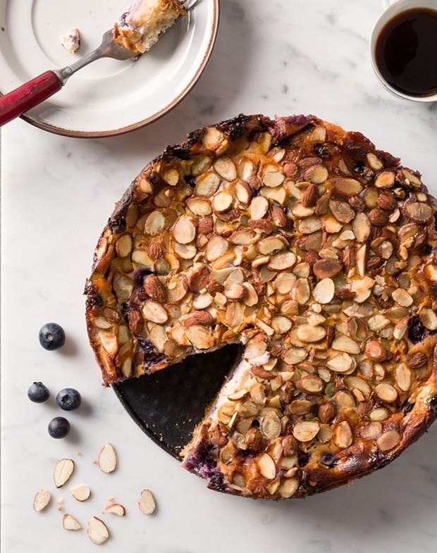Blueberry-Almond Sour Cream Cake - COURTESY OF TRACEY MEDEIROS