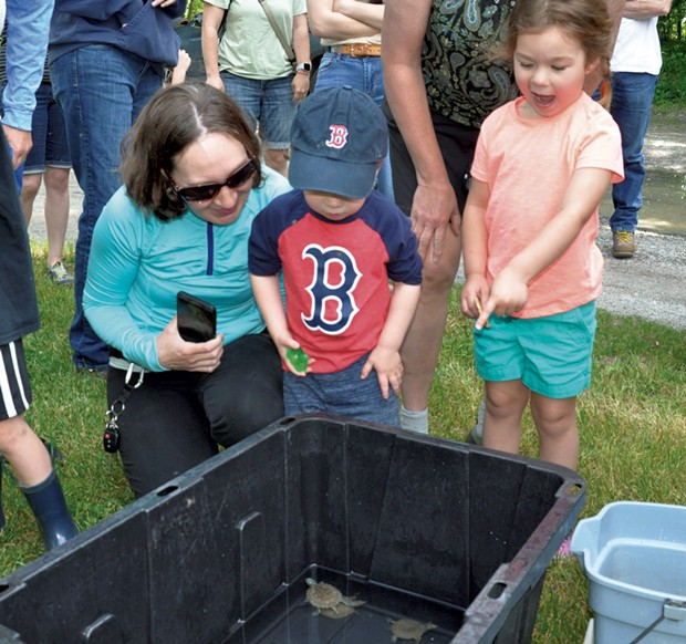 A family at the June turtle release - COURTESY OF ECHO