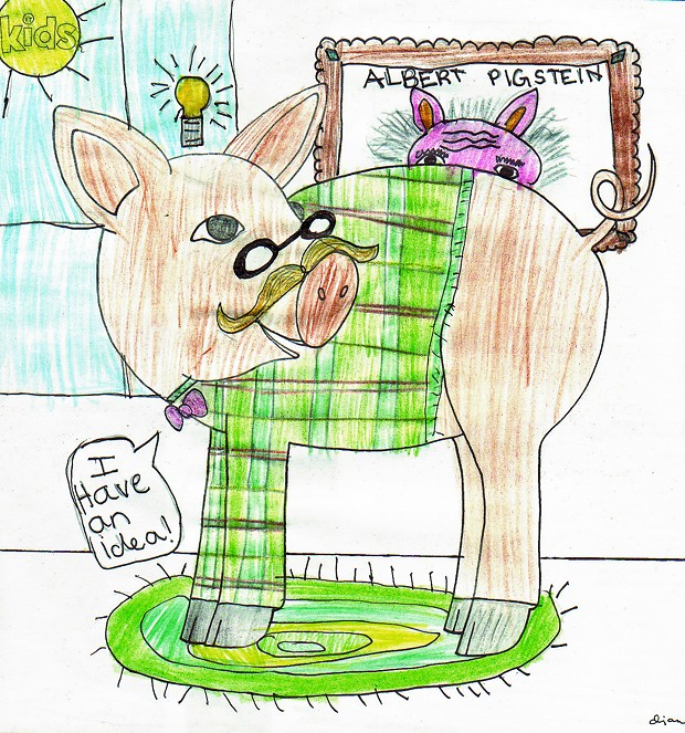 """Plaid Professor Pig"""