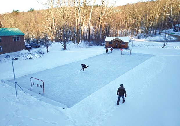 Backyard Hockey Rink - COURTESY OF PATTY KELLY