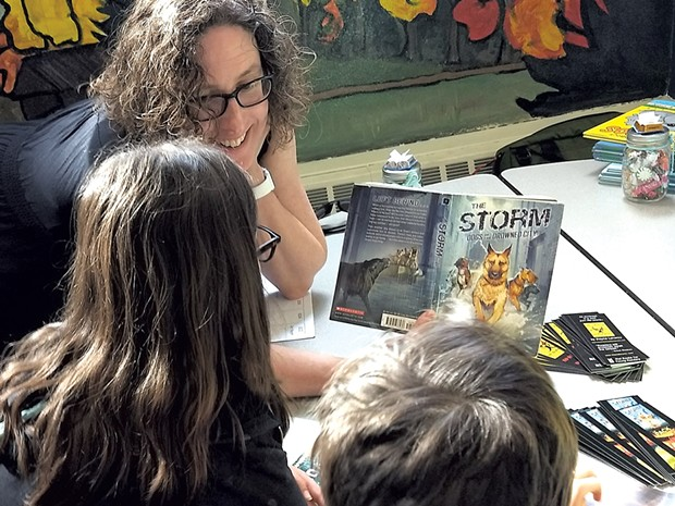 Author Dayna Lorentz at last year's nErDcampVT