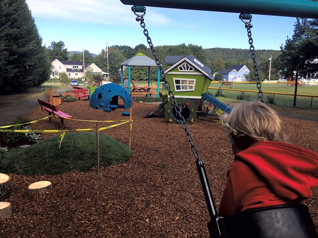Northfield Falls Community Playground  at Northfield's Brown Public Library - COURTESY OF BONNIE KIRN DONAHUE