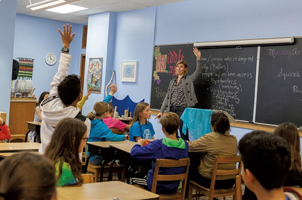 Soni Albright teaches Cyber Civics at the City of Lakes Waldorf School in Minneapolis - COURTESY OF CYBER CIVICS