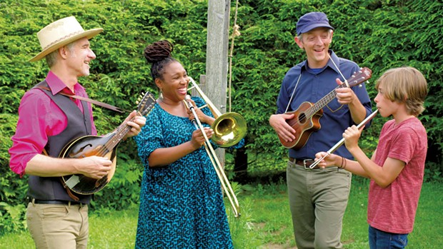 Left to right: Dan Zanes, Claudia Eliaza, Chris Dorman and Raphael Kindar-Martin - COURTESY OF BRIAN STEVENSON/VERMONT PBS