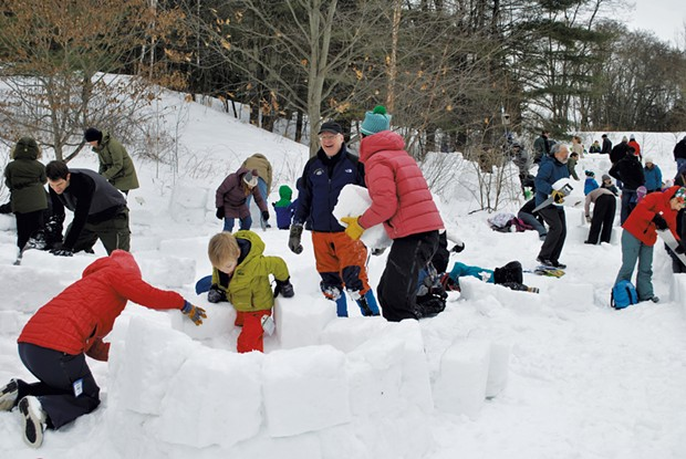 Bert Yankielun at the 2019 Montshire Museum Igloo Build - COURTESY OF MONTSHIRE MUSEUM OF SCIENCE