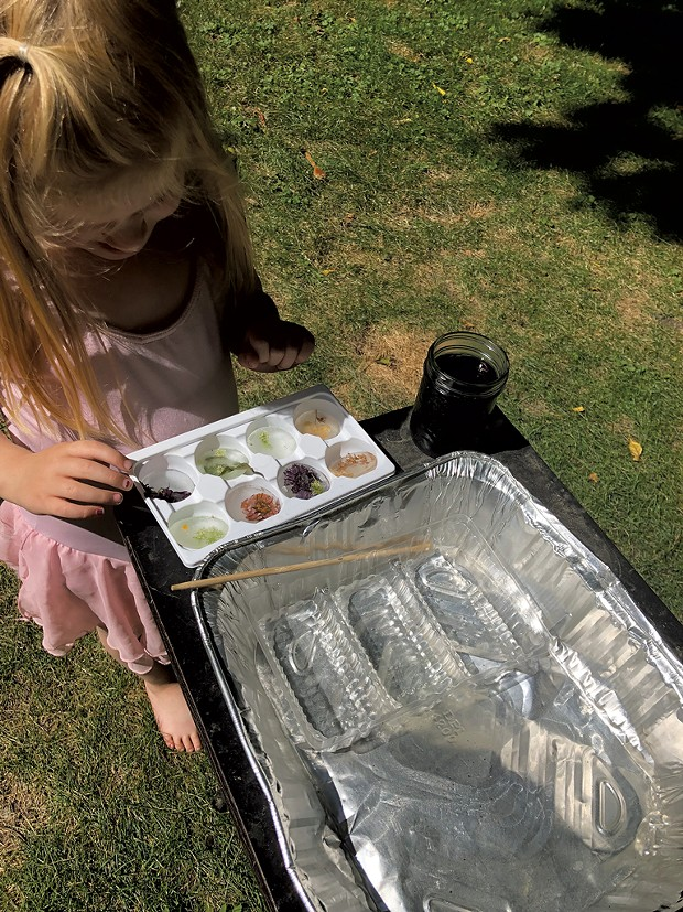A mochi container becomes an item for nature play - MEREDITH BAY-TYACK