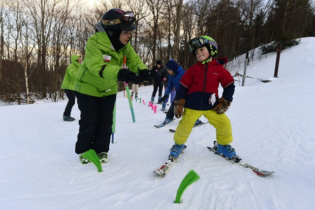 A ski lesson at Mad River Glen in Waitsfield - COURTEST OF VERMONT SKI AREAS ASSOCIATION